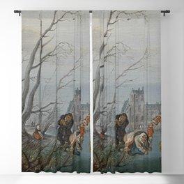Adriaen Pietersz van de Venne - Winter (Amusement on the Ice) Blackout Curtain