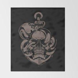 Skull And Octopus | Heavy Metal Throw Blanket