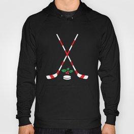 Ice Hockey Christmas Gift Candy Cane Hockey Stick Hockey Hoody
