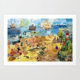 Paradise Cove  Art Print