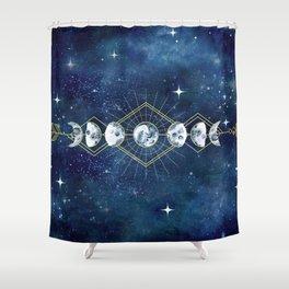 Moon Cycle Arrow Shower Curtain