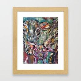 Crazy Kooky Farm Animals Framed Art Print