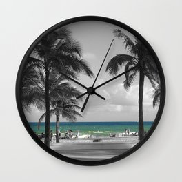 Miami Beach Florida Ocean photography Wall Clock
