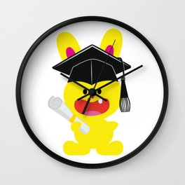 One Tooth Rabbit Education Diploma Wall Clock