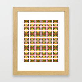flag of grenada -grenadian,grenadines,Saint georges,grenville,Gouyave,Carriacou,nutmeg Framed Art Print