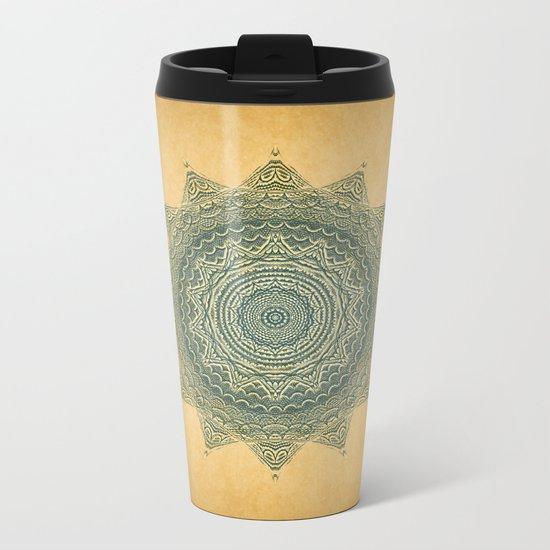 Sun Symbol Metal Travel Mug