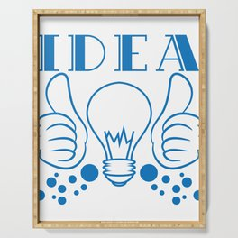 """Idea"" tee design. Makes a nice gift to your creative and fabulous friend! Go get yours now!  Serving Tray"