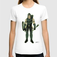 green arrow T-shirts featuring Green Arrow by The Vector Studio