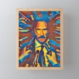 John Wick Framed Mini Art Print