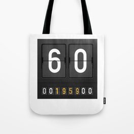 Mechanical Letter Board 1959 60th Birthday Gift idea drawing Tote Bag