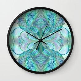 Abalone Shell Nautilus Kalidescope Wall Clock