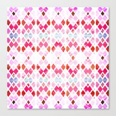 Diamond Geo Pinks & Blues Canvas Print