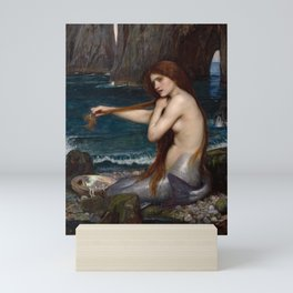 Mermaid by John William Waterhouse, 1900 Mini Art Print