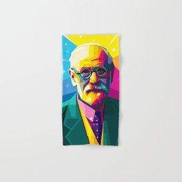 Sigmund Freud Graphic-design Pop Art Portrait Hand & Bath Towel