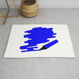 Dark Blue Marker Copy Space Rug