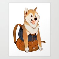 Shibackpack Art Print