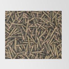 Rifle bullets Throw Blanket