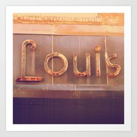 louis Art Prints featuring Louis  by HARRIE CANE