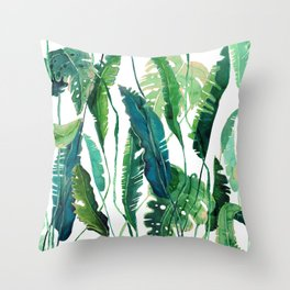 vertical leaves Throw Pillow