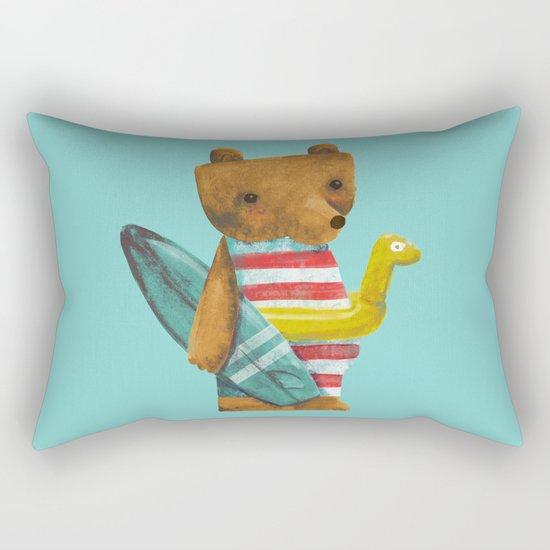 Summer Bear Rectangular Pillow