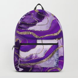 Liquid Marble Agate Glitter Glam #4 (Faux Glitter) #decor #art #society6 Backpack