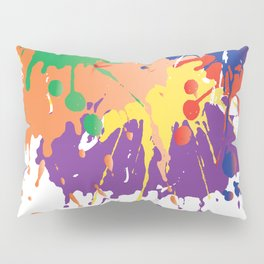 Colourful Paint splash Pillow Sham