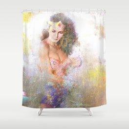 La chica maravillosa Shower Curtain