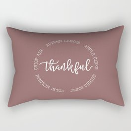 Thankful for Jesus and Autumn Rectangular Pillow