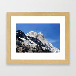 Salkantay Peak, Peru. Framed Art Print