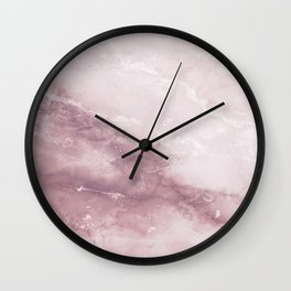 Pastel pink burgundy elegant abstract marble pattern Wall Clock