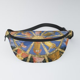 """Fra Angelico (Guido di Pietro) """"The Mystical Wheel (The Vision of Ezekiel)"""" Fanny Pack"""