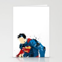 man of steel Stationery Cards featuring Man of Steel by ALmighty1080