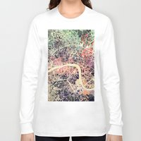 london map Long Sleeve T-shirts featuring London Mosaic Map #1 by Map Map Maps