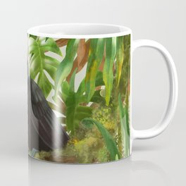 Toucans and Bromeliads (Canvas Background) Coffee Mug