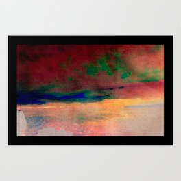 sunset/soft light/abstract/nature/sea Art Print
