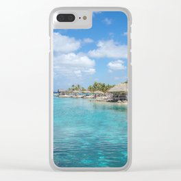 Scenic Tropical lagoon in Curacao Clear iPhone Case