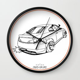 Crazy Car Art 0221 Wall Clock