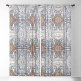 Stoned Pattern Sheer Curtain