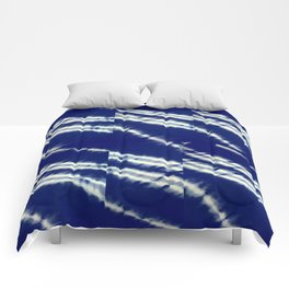 blue tie dye Comforters