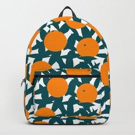 Art Deco Minimalist Orange Grove Backpack