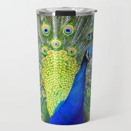 Flashy Peacock Travel Mug