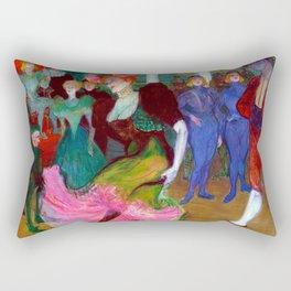 Toulouse Lautrec Marcelle Lender Dancing the Bolero Rectangular Pillow