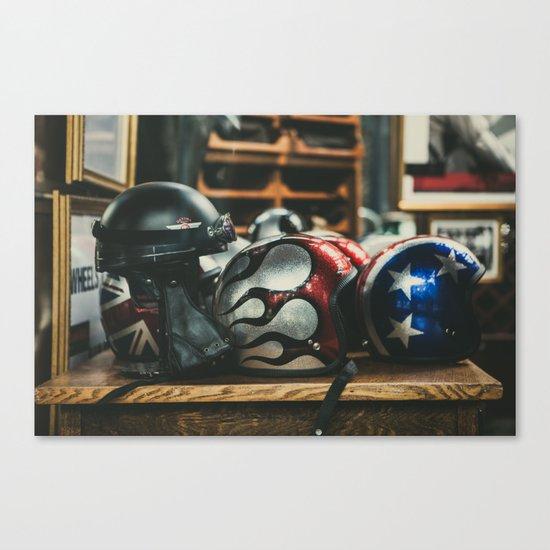 Helmets Canvas Print