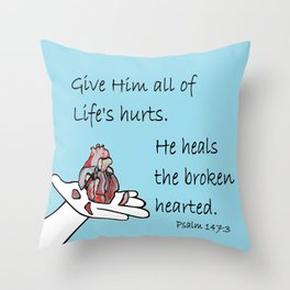 Healer of Hearts Throw Pillow