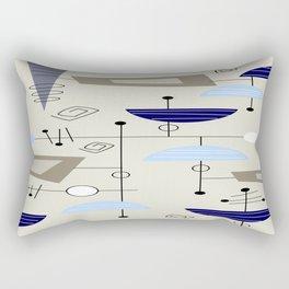 Mid-Century Modern Atomic Era Rectangular Pillow