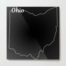 Ohio State Pride USA Map Metal Print