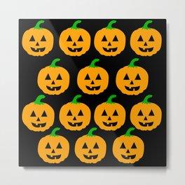 pumpkin pattern Metal Print