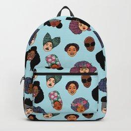 Black Hair Magic - Blue Backpack