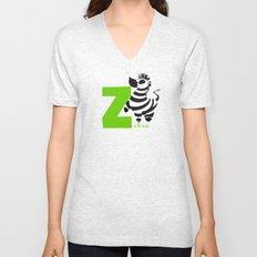 z for zebra Unisex V-Neck