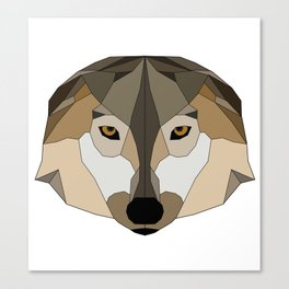 Low Poly Wolf - Animals Canvas Print